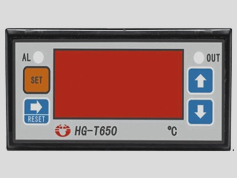 t650温控表     输入输出:1路pt100三线测温输入,2路继电器输出(加热