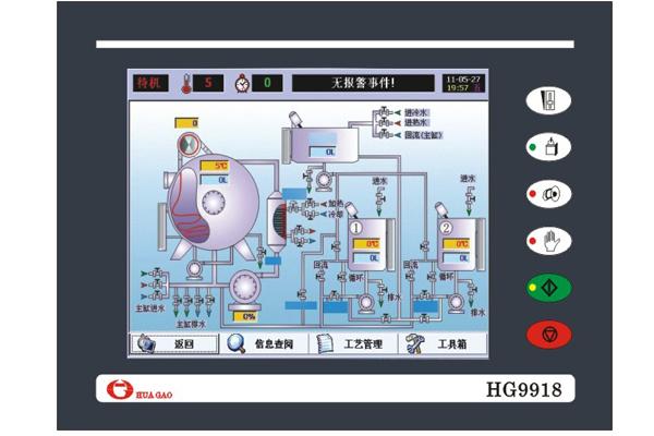 华高触摸屏染色机控制电脑HG9918